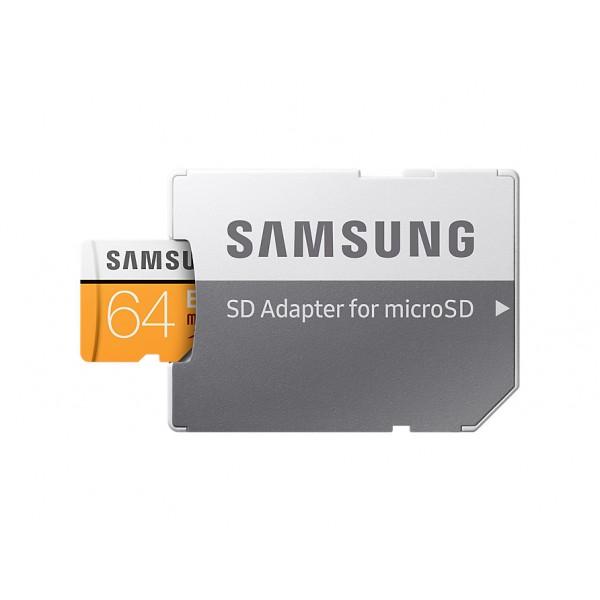Tarjeta Samsung EVO (adaptador SD) 64GB 100MB/S Ref: MB-MP64GA / UE